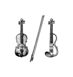 Classical and electric violins vector