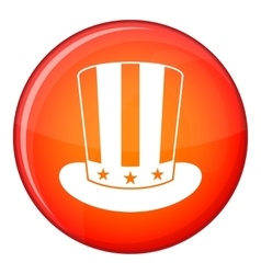 American hat icon flat style vector