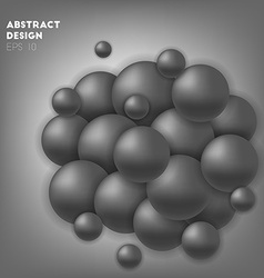 Black abstract circles in sphere vector image vector image