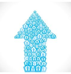 blue arrow icon make arrow stock vector image vector image