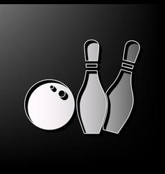 Bowling sign gray 3d printed vector