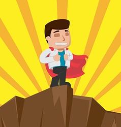 Business Man Worker Winner Stand vector image