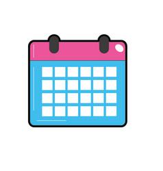 Calendar to organizar important events vector