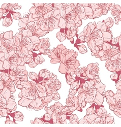 Cherry blossom sakura seamless pattern vector