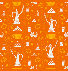 Coffee pattern arabica vector