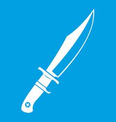 Dagger icon white vector