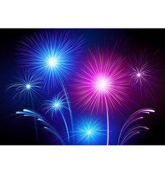 exploding fireworks vector image vector image