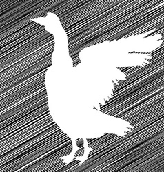 Goose stencil vector