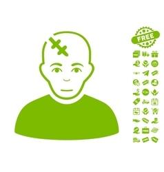 Head Hurt Icon With Free Bonus vector image