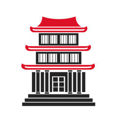 house japanese traditional chinese facade vector image vector image