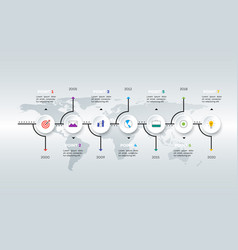layered horizontal infographic timeline vector image