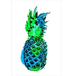 Modern color pineapple fruit art for summer vector image vector image