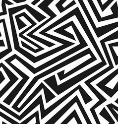 Monochrome tribal maze seamless texture vector