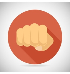 Punch fist hand palm icon social power courage vector