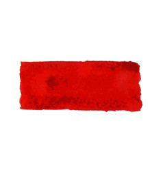red watercolor smear brush strokes vector image