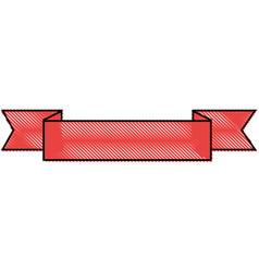 ribbon banner empty vector image vector image