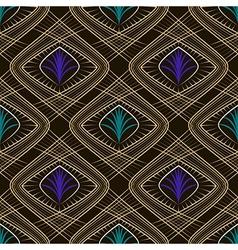 Seamless beautiful art deco pattern ornament vector