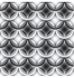 seamless pattern black and white ceramic tile vector image vector image