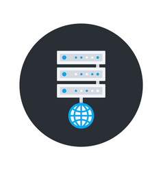 server icon flat style vector image vector image