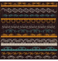 Set of lace paper border frame vector