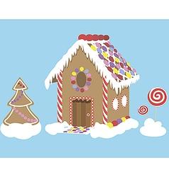 Sweet christmas house vector