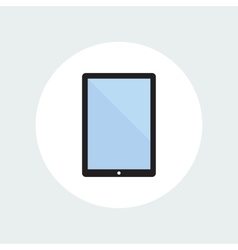 Tablet Computer Flat Icon vector image vector image