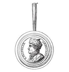 The franklin medallion vintage vector