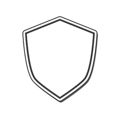 Shield frame security label design vector
