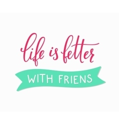 Friendship love lettering vector image