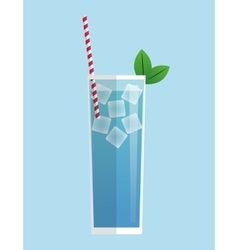 Colorful summer cocktail design vector
