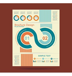 Advertising brochure design template vector