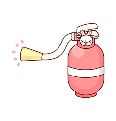 A view of fire extinguisher vector