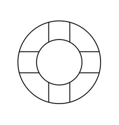 Line lifebelt symbol to maritime rescue and vector