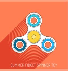 Three blades fidget spinner toy in flat style vector