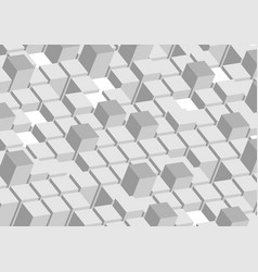 3d abstract tech grey geometric shapes background vector
