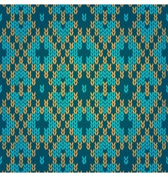 Ethnic Style Seamless Knitted Pattern vector image