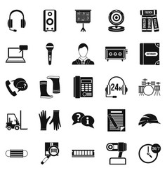speaker icons set simple style vector image