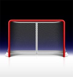 Ice hockey net goal on black vector image