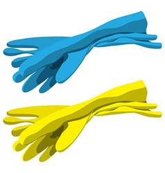 Rubber gloves vector