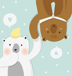 Couples bear vector