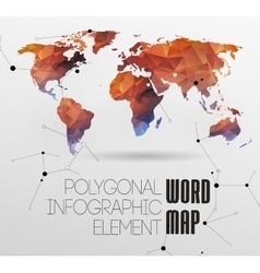 World map and typography vector