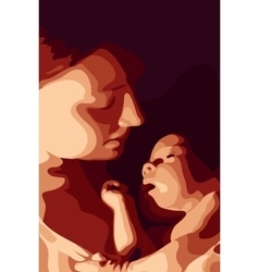 Mother and her baby vector