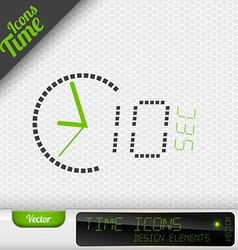Time icon 10 seconds symbol design elements vector