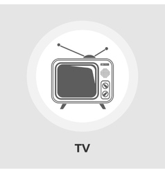 Tv flat icon vector