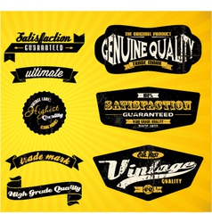 Black labels vector image