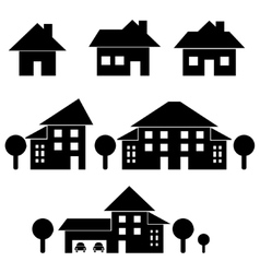 Estate black silhouettes vector
