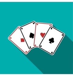 Playing cards icon flat style vector