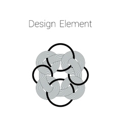 Round design element made of lines vector