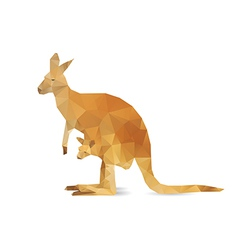 Abstract kangaroo vector image vector image