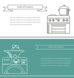 Banner appliances vector image